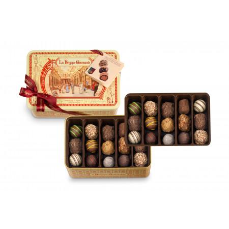 Metal Box with Belgian Chocolate Truffles, Special Galerie de la Reine