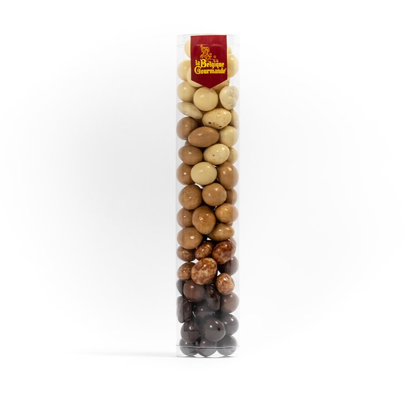 Tube with Belgian Chocolate Almonds